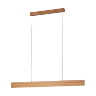 Závěsné LED osvětlení CLIMENE 39347, délka 117 cm/odstín: ořech
