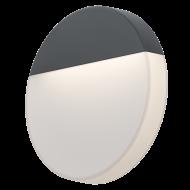 Designové nástěnné LED světlo s možností venkovního využití, antracitové OROPOS 96238