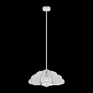 Lustr s dřevěným stínítkem, bílý CHIETI 97701