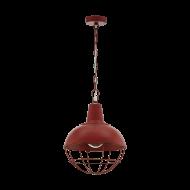 Závěsné svítidlo CANNINGTON 1 33031, barva: červená s patinou