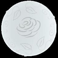 Stropní svítidlo zdobené květinou MARS1