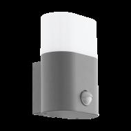 Venkovní nástěnné LED svítidlo s pohybovým čidlem - stříbrné FAVRIA 97315