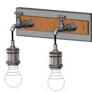 Industriální nástěnné svítidlo/2 žárovky GOLDCLIFF 49102