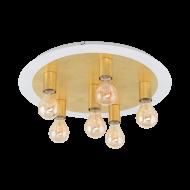 Stropní LED svítidlo, 6 x 4W, bílo-zlaté PASSANO 97493