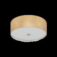 Stropní osvětlení se zlatým textilním stínítkem VISERBELLA 97642
