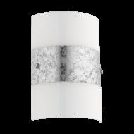Nástěnné svítilo, bílá/stříbrná FIUMANA 97656