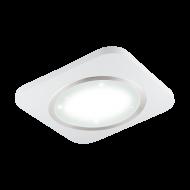 Stropní LED osvětlení, bílá/matný nikl PUYO-S 97661 s délkou stran 51 cm