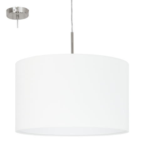 Závěsné textilní osvětlení bílé PASTERI 31571