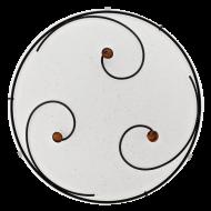 Stropní svítidlo kruhové zdobené SCARLETH