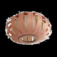 Stropní svítidlo s dřevěným stínítkem/ hnědý odstín ARENELLA 96654