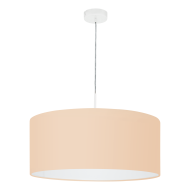 Textilní lustr na lanku, pastelově meruňkový PASTERI-P 97562