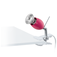 Lampička s klipem růžová BANNY