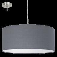 Závěsné textilní osvětlení šedé PASTERI 31577