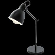 Lampička s ohebným kloubem černá PRIDDY 49469