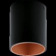 LED stropní osvětlení černé a měděné POLASSO 94501
