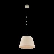 Závěsný lustr s textilním stínítkem DONADO 96466