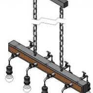 Industriální závěsné osvětlení/8žárovek GOLDCLIFF 49099
