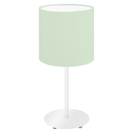 Stolní lampička s textilním stínítkem, pastelově zelená PASTERI-P 97382