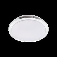 Bílo-stříbrné stropní LED svítidlo do koupelny, průměr 34,5 cm COMPETA 1-ST 97754