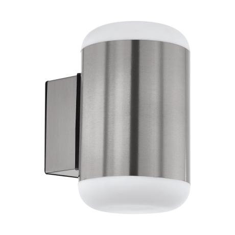 Nástěnné venkovní svítidlo MERLITO 97843, barevné provedení: přirozená nerez ocel