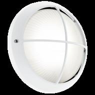 Kruhové venkovní nástěnné LED svítidlo, bílé SIONES 1 96341