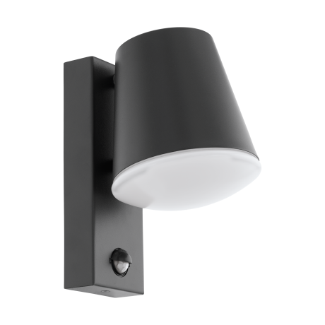 Venkovní nástěnná lampa s pohybovým čidlem - odstín antracit CALDIERO 97451