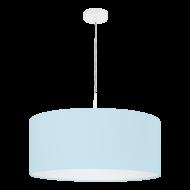 Textilní lustr na lanku, pastelově modrý PASTERI-P 97386