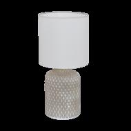 Stolní lampa s keramickou nohou a bílým textilním stínítkem BELLARIVA 97774