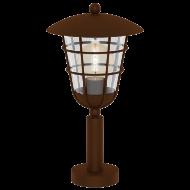 Venkovní lucerna hnědá na podstavci PULFERO 1 94856