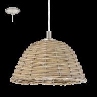 Stropní proutěná lampa vintage styl CAMPILO 2 94945