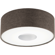 Stropní přisazené osvětlení kruhové hnědé ROMAO 2 95336