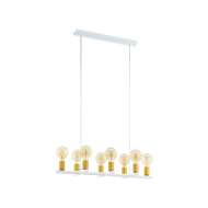 Lustr na lanku, bílá/zlatá ADRI 2 97448