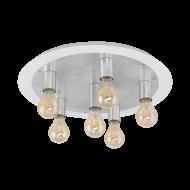 Stropní LED svítidlo, 6 x 4W, bílo-stříbrné PASSANO 97496