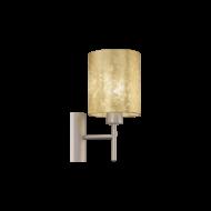 Nástěnná lampa se zlatým textilním stínítkem VISERBELLA 97645
