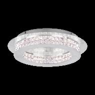 Křišťálové LED svítidlo PRINCIPE 39403 o průměru 50 cm, barva: stříbrná