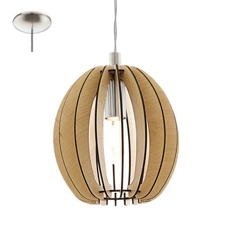Závěsné svítidlo s dřevěnou konstrukcí COSSANO 94768