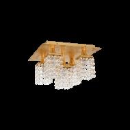 Křišťálové stropní osvětlení PYTON GOLD 97721