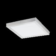Čtvercové stropní LED osvětlení, stříbrná/bílá FUEVA 1 97265