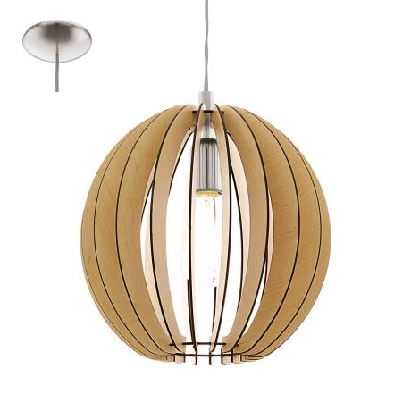 Závěsné svítidlo s dřevěnou konstrukcí COSSANO 94764