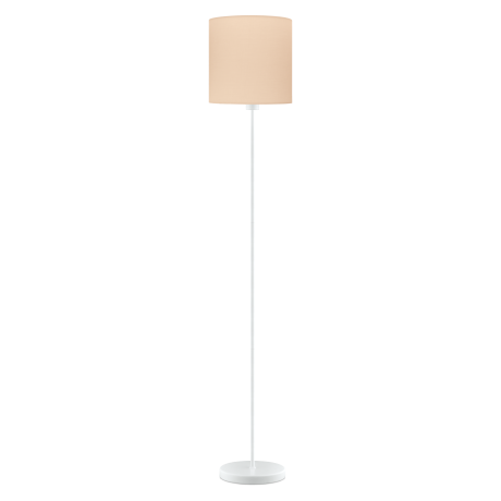 Pokojová lampa s textilním stínítkem, pastelově meruňková PASTERI-P 97566