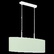 Oválné textilní osvětlení na lanku, pastelově zelené PASTERI-P 97379