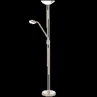 Stojací lampa pokojová stmívatelná nikl BAYA LED 93874