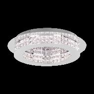 Stropní LED svítidlo PRINCIPE 39401 s průměrem 50 cm, odstín: chrom