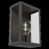 Nástěnná venkovní lucerna / lampa  černá ALAMONTE 1 94831