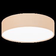 Stropní osvětlení s textilním stínítkem, pastelově meruňkové PASTERI-P 97559
