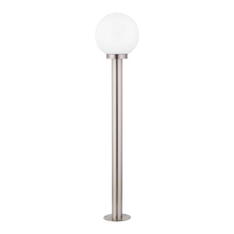 Zahradní lampa s bílou koulí, sloupek NISIA