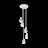 Závěsný spirálovitý lustr s pěti stínítky ALVAREDO 96426