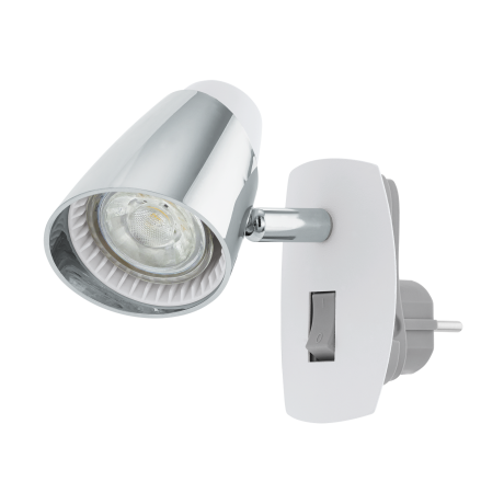 LED světlo do zásuvky - bílá/chrom MONCALVIO 1 96846