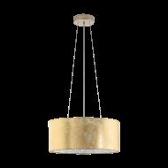 Lustr na lanku se zlatým textilním stínítkem VISERBELLA 97644