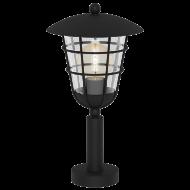 Venkovní stojací svítidlo s lucernou černá PULFERO 94835